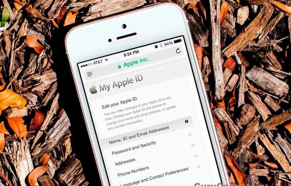 Как изменить Apple ID?