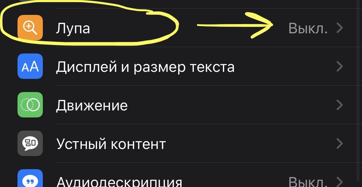 Как включить, пользоваться и где находится лупа на iPhone?