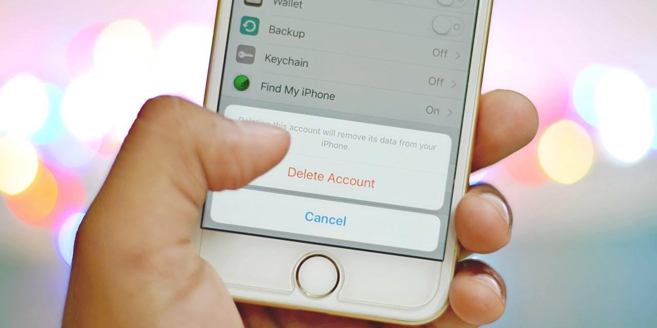 Как удалить учетную запись iOS?